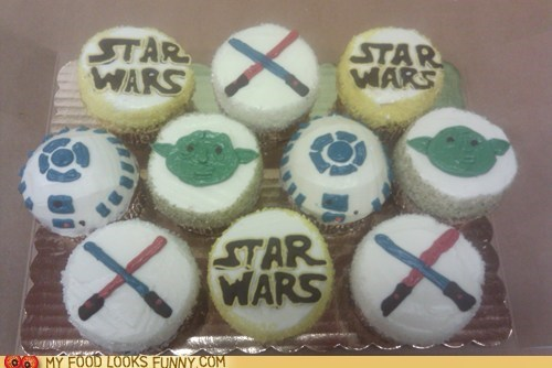 cupcakes,force,frosting,star wars
