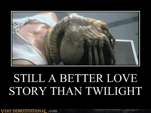 Aliens face hugger hilarious twilight