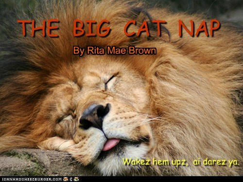THE BIG CAT NAP By Rita Mae Brown Wakez hem upz, ai darez ya.