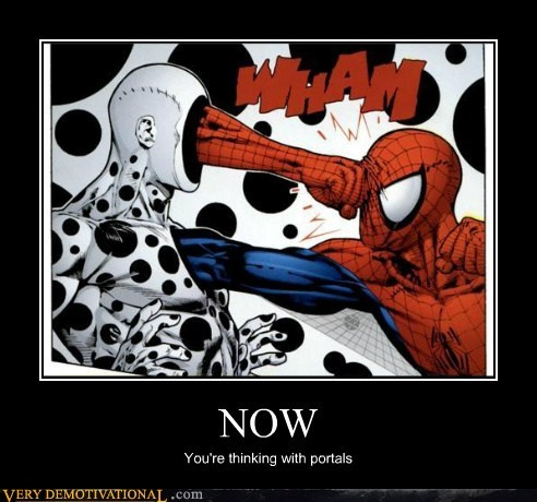 hilarious,portals,Spider-Man,superheroes