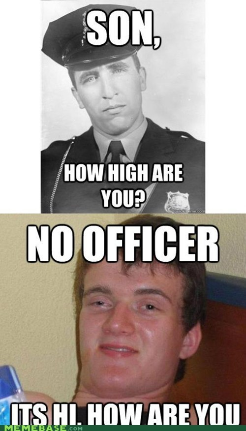 are you,hi,high,how are you,Memes,officer,son