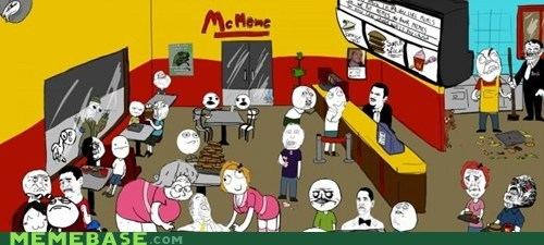 McDonald's mcmeme Rage Comics restaurant