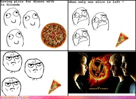 comic funny meme Movie rage hunger games - 6074008576
