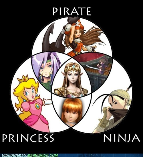 ninja,Pirate,princess,the internets,venn diagram