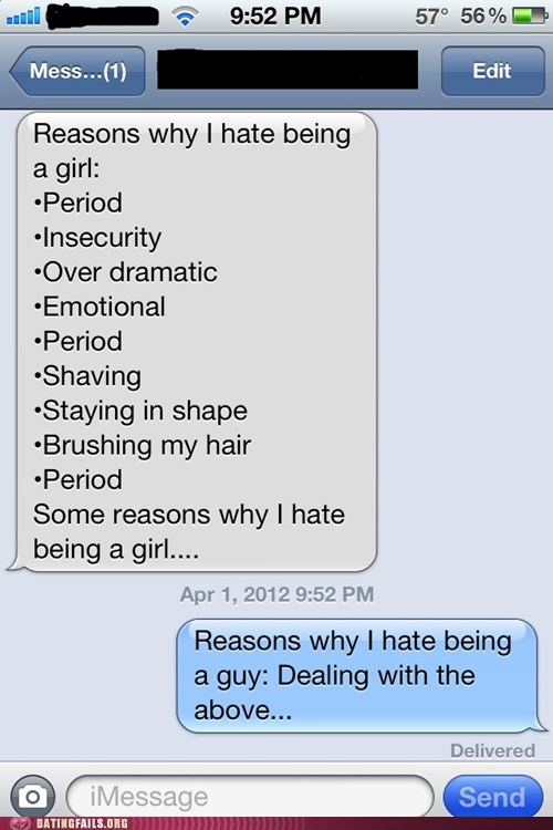 dealing with girls hating being a girl periods sexism - 6074212608