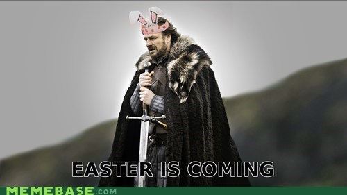 easter eggs rabbit Winter Is Coming