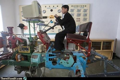 dprk,farming simulator,Kim Jong-Il,kim jong-un,North Korea,Pyongyang,samjiyon,tractor