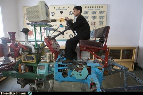 dprk farming simulator Kim Jong-Il kim jong-un North Korea Pyongyang samjiyon tractor - 6074491904