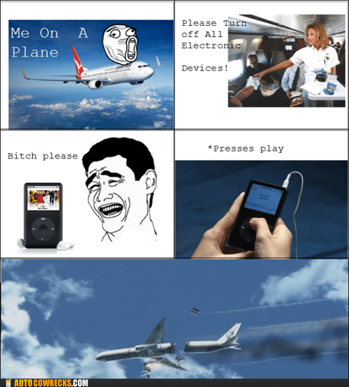 airplane comic flying ipod rage comic