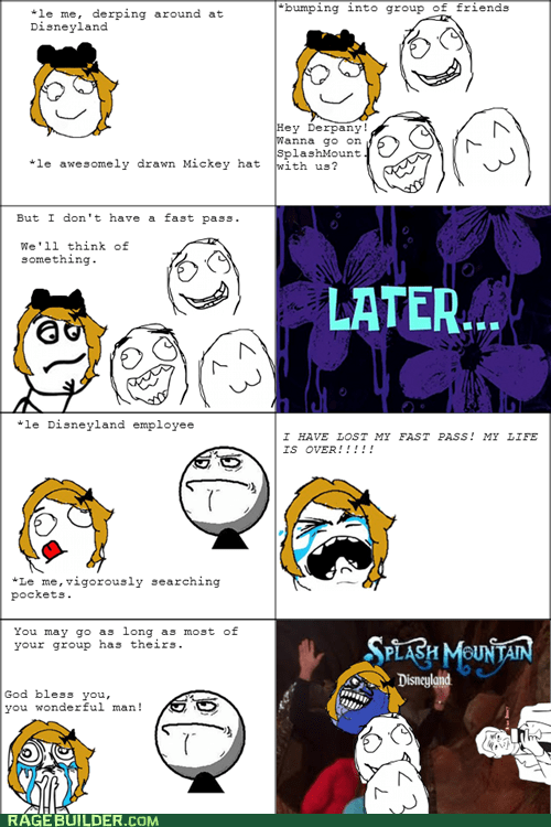 disneyland i lied Rage Comics splash mountain