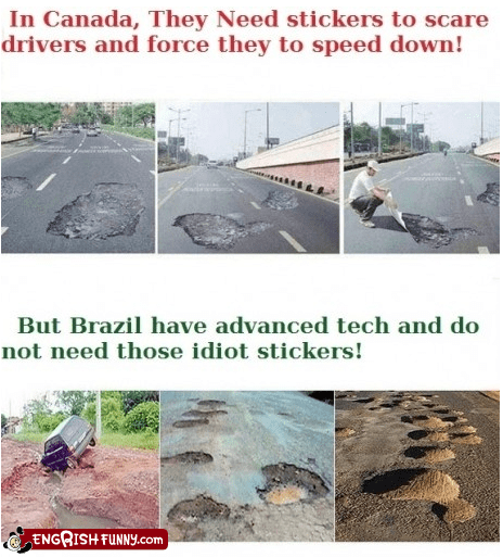 brazil,brazillion,Canada,Hall of Fame,potholes,roads