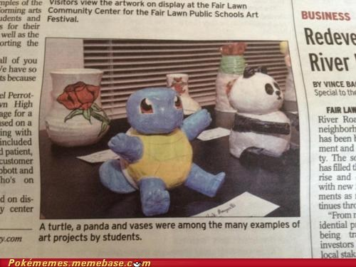 art Art Project newspaper squirtle turtle - 6074652160