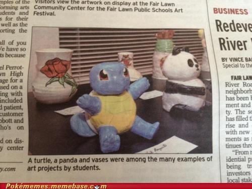 art newspaper squirtle turtle - 6074652160