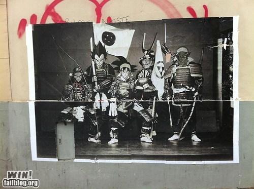 Dragon Ball Z graffiti hacked irl Street Art - 6074699520