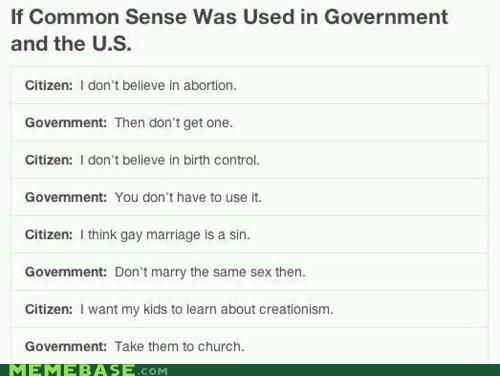 america citizen common sense government marriage Memes - 6074702080