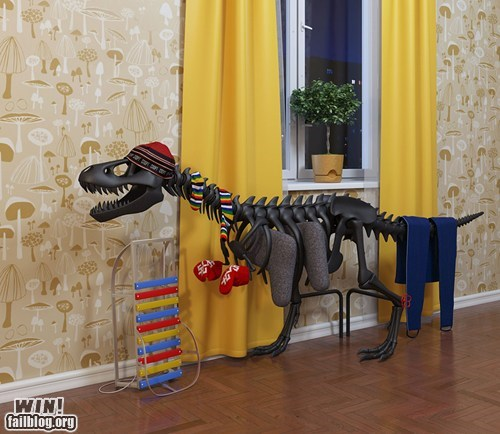 dinosaur fossil g rated Hall of Fame heater radiator skeleton win - 6074716928