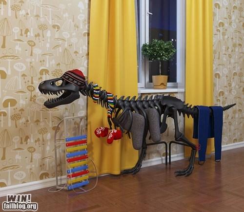 dinosaur fossil g rated Hall of Fame heater radiator skeleton win - 6074716928