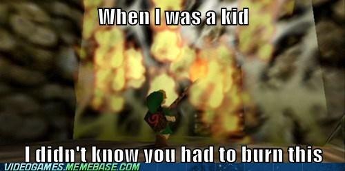 burn gameplay nintendo 64 zelda - 6074838528