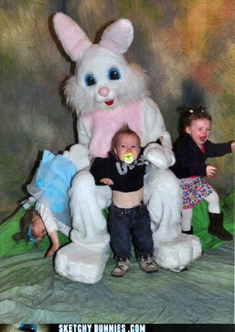 afraid easter kids scared