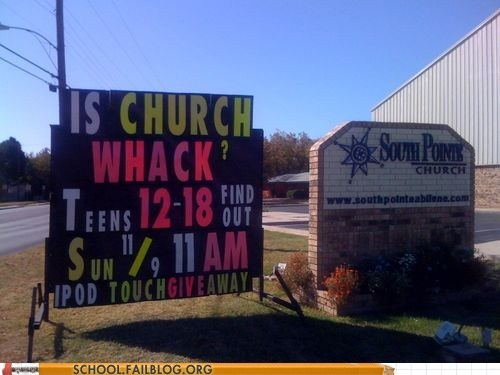 church is wack,find out,ipod touch giveaway,teens