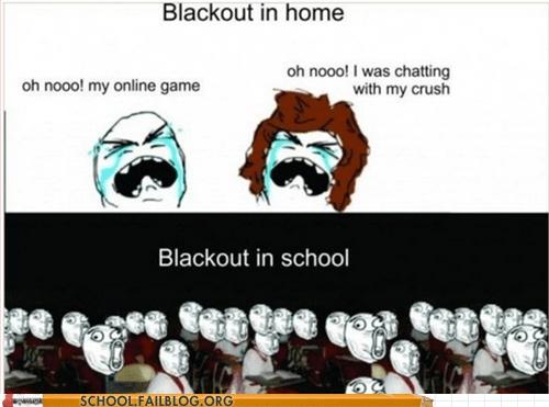 blackout in school everybody panic Rage Comics - 6074958848