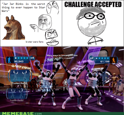 Challenge Accepted dancing Rage Comics star wars - 6075120640