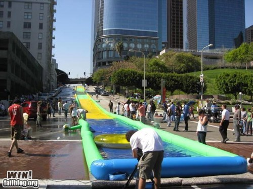 fun g rated Hall of Fame slip n slide summer whee win