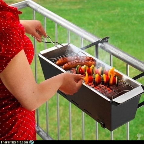 apartment,barbecue,bbq,deck,g rated,grill,there I fixed it