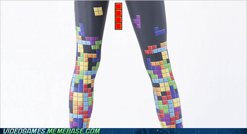 girls leggins period red block tetris the feels uno