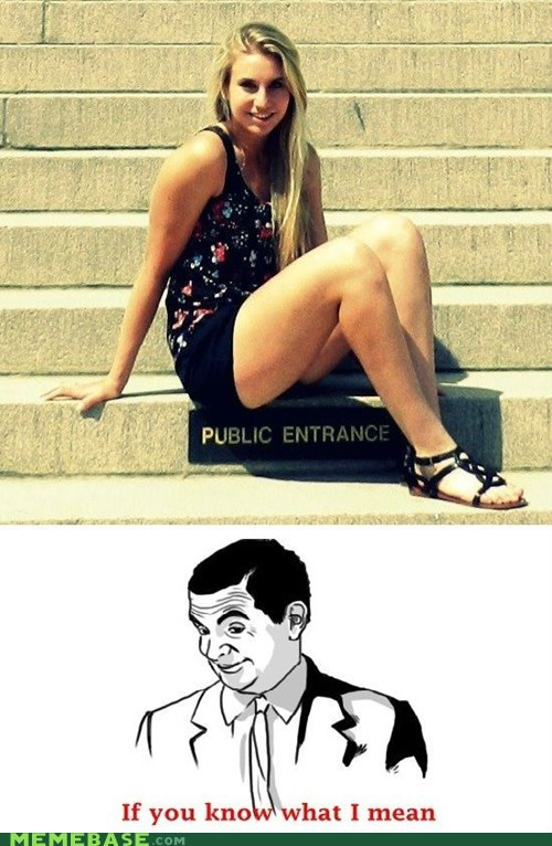 entrance if you know what i mean mr-bean public Rage Comics - 6075335680