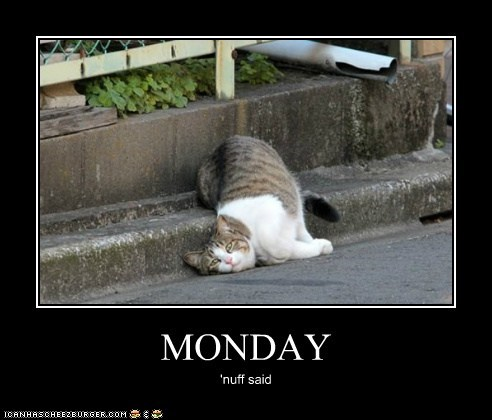 MONDAY 'nuff said