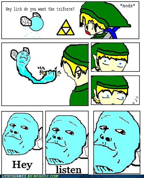 hey listen meme navi triforce zelda - 6075383040