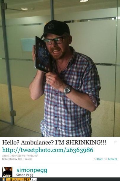 ipad,iphone,shrinking,Simon Pegg,size,tablet
