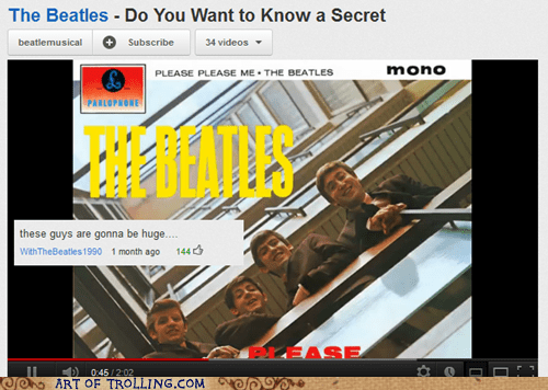 comments huge the Beatles youtube - 6076033792