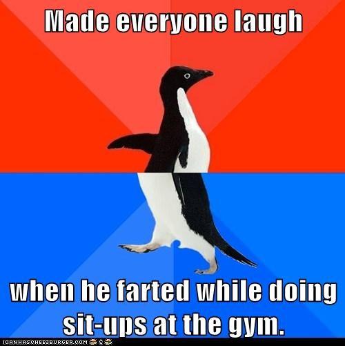 socially awkward penguin - 6076357888