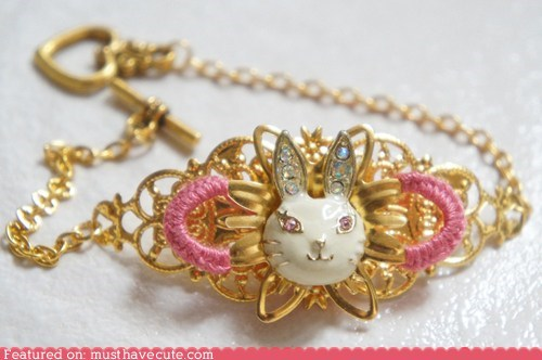 bracelet,bunny,easter,gold,Jewelry