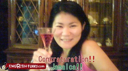 alcohol congrats congratulations congraturation jamaica mixed drink