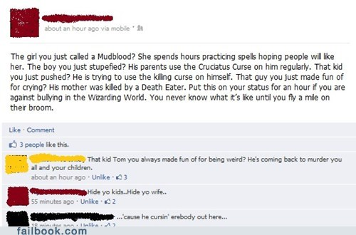 copypasta curse failbook g rated Harry Potter hermione voldemort