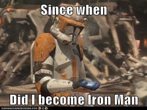 iron man,since when,star wars,stormtrooper,superhero,surprise