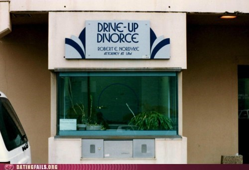 drive-thru culture,drive-up divorce,Lawyers