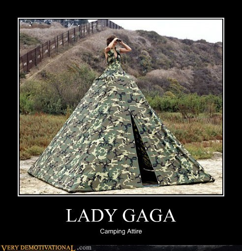 camping hilarious lady gaga tent wtf - 6078095872