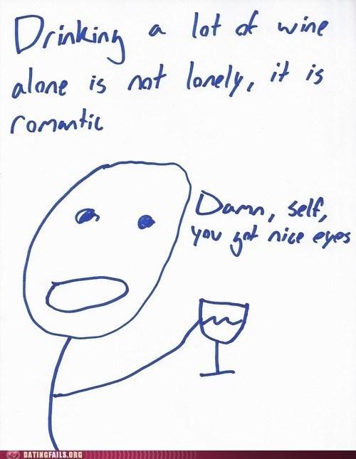 comix damn self drinking wine alone nice eyes - 6078210816