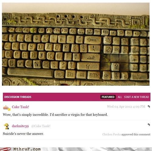 chichen itza computer keyboard mayan stone - 6078248704