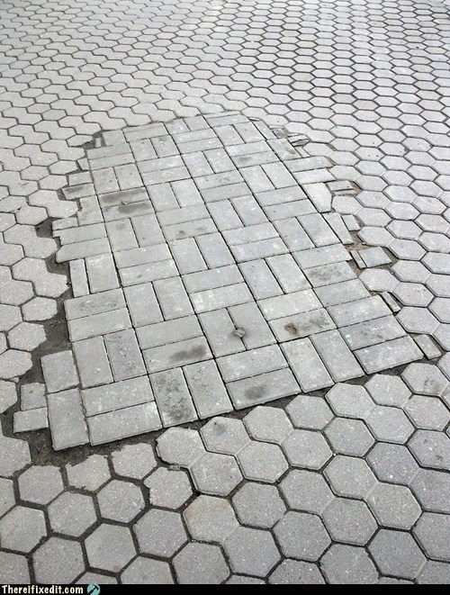 blindness hexagon shape sidewalk street tiles - 6078324224