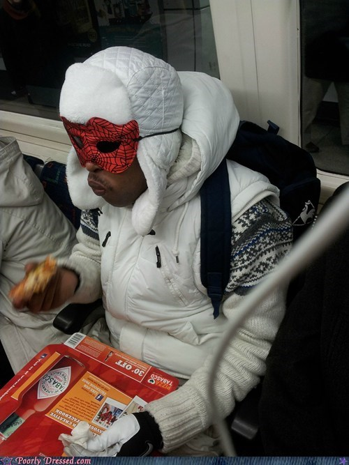 food mask munchies public transportation Subway