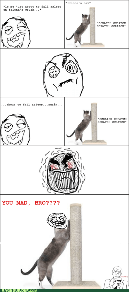 cat noise Rage Comics sleeping - 6078587648