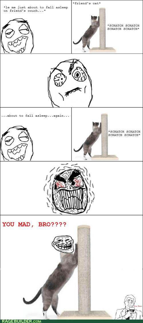 cat noise Rage Comics sleeping - 6078587648