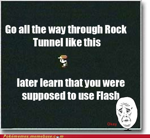 flash,gameplay,Okay,rock tunnel,Sad
