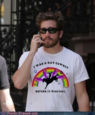 celeb,cowboy,gay,jake gyllenhal,shirt