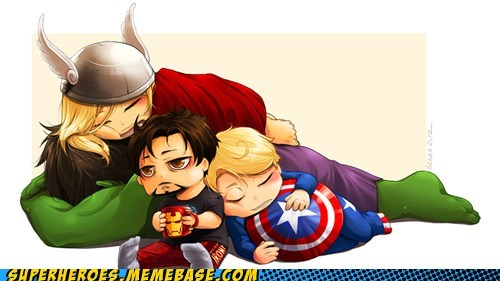 avengers Awesome Art captain america hulk iron man Thor - 6078893056